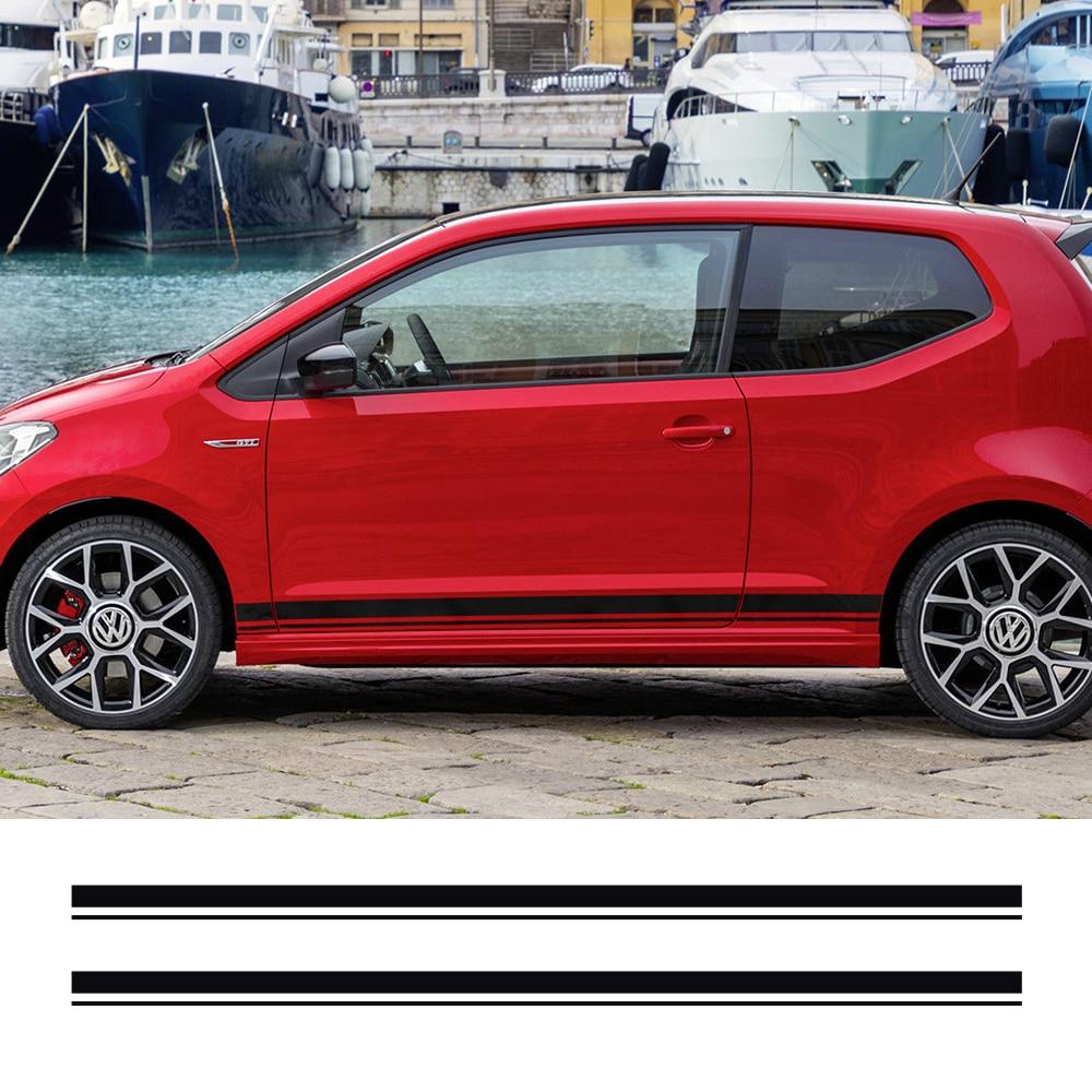 Наклейки на боковые полосы автомобиля, виниловая пленка, Автомобильные украшения, наклейки для Volkswagen Cross Up GT, Стайлинг автомобиля, аксессуар...