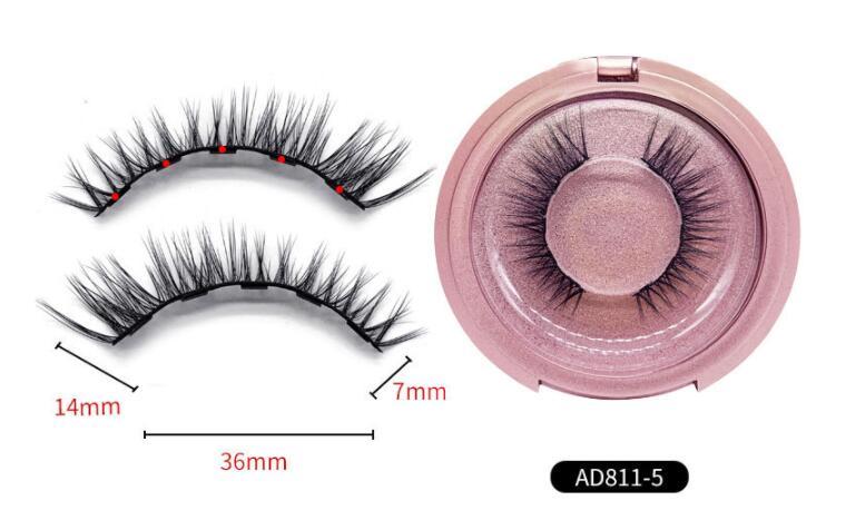 2019 Magnetic Eyeliner False Eyelashes  With 5 Magnets With Natural Extension Eyelashes Without Glue