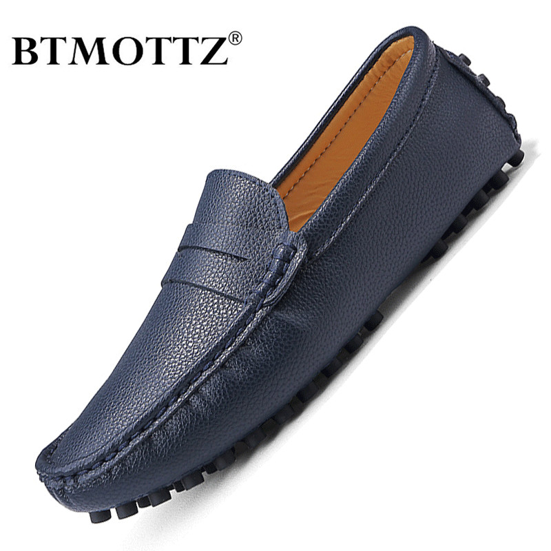 Genuine Leather Men Shoes Luxury Brand Formal Casual Mens Loafers Moccasins Soft Breathable Slip On Boat Shoes Plus Size 39-50