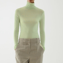 Knitted Sweater Winter High-Neck And Wool Bottoming-Shirt Thin Micro-Permeable Autumn