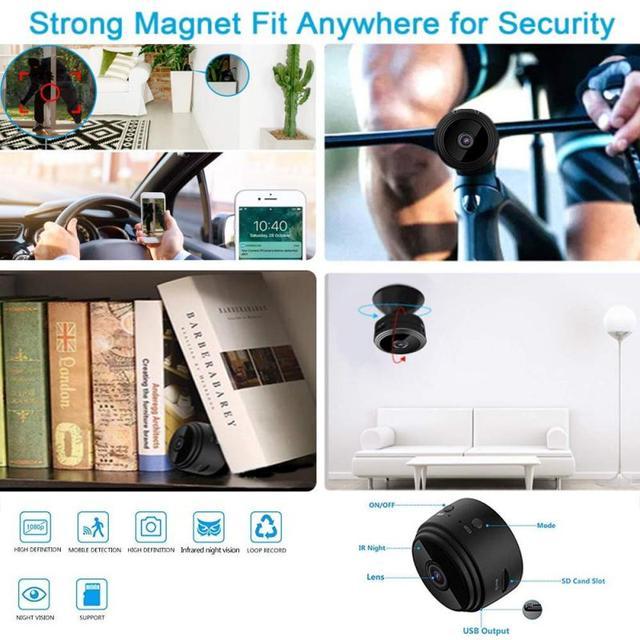 1080P HD IP Mini Camera Wireless Recorder Wifi Security Remote Control Surveillance Night Vision Motion Mobile Detection Camera 3