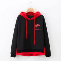 2019 Fall Oversized Women Hoodies Hooded Sweatshirts Women Pullovers Casual Letter Print Casual Loose Hoodies Coat Plus Size 5XL