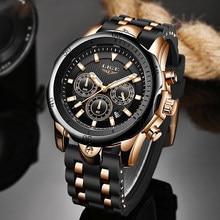 Relogio masculino nova moda relógio masculino lige marca superior esporte relógios dos homens à prova dwaterproof água relógio de quartzo homem casual militar relógio de pulso