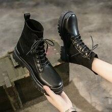 2020 кожаная женская обувь с перекрестной шнуровкой сбоку осень