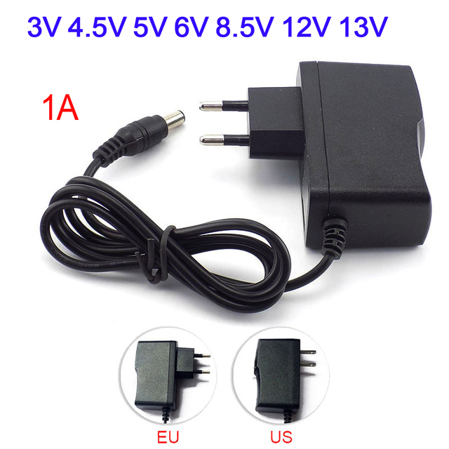 5V Power Supply <font><b>Adapter</b></font> Charger Universal US EU <font><b>Adapter</b></font> Plug 3V <font><b>4.5V</b></font> 5V 6V 8.5V 12V 13V 1A Power <font><b>Adapter</b></font> Led Strip Light Lamp image