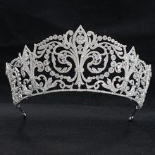 Classic Cubic Zirconia Wedding Bridal Princess Tiara Crown Diadem Women Hair Jewelry Accessories CH10329