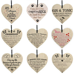 Hanging-Tags Embellishments Crafts Home-Decoration-Supplies Wooden Wedding-Event Heart-Shapes
