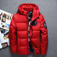 High Quality White Duck Thick Down Jacket Men Coat Snow Park