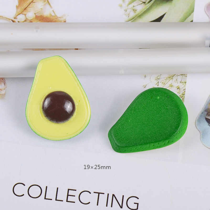 10 Uds. Encantos de Baba mezclado colorido aguacate resina plastilina accesorios para hacer cuentas de Baba suministros para artesanías de álbum de recortes para bricolaje