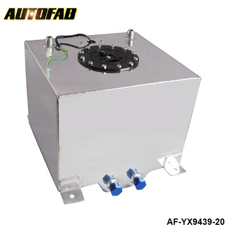 <font><b>20L</b></font> Aluminium Drifting Oil Catch Can <font><b>Tank</b></font> Fuel Surge <font><b>Tank</b></font> Mirror Polish Fuel Cell With Foam Inside With Sensor AF-YX9439-20 image