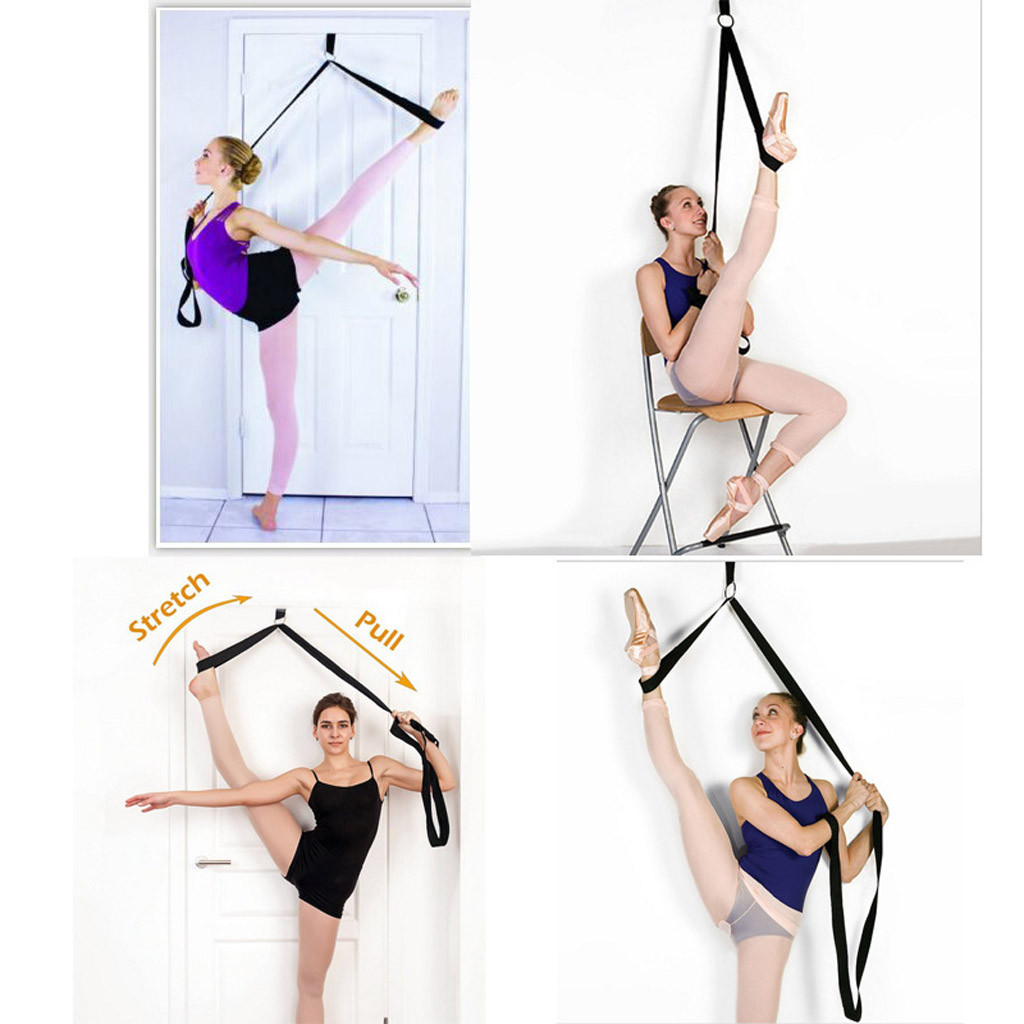 Door Flexibility Stretching Leg Stretcher Strap for Ballet Cheer Dance Gymnastics Trainer Yoga Flexibility Leg Stretch belt#g3