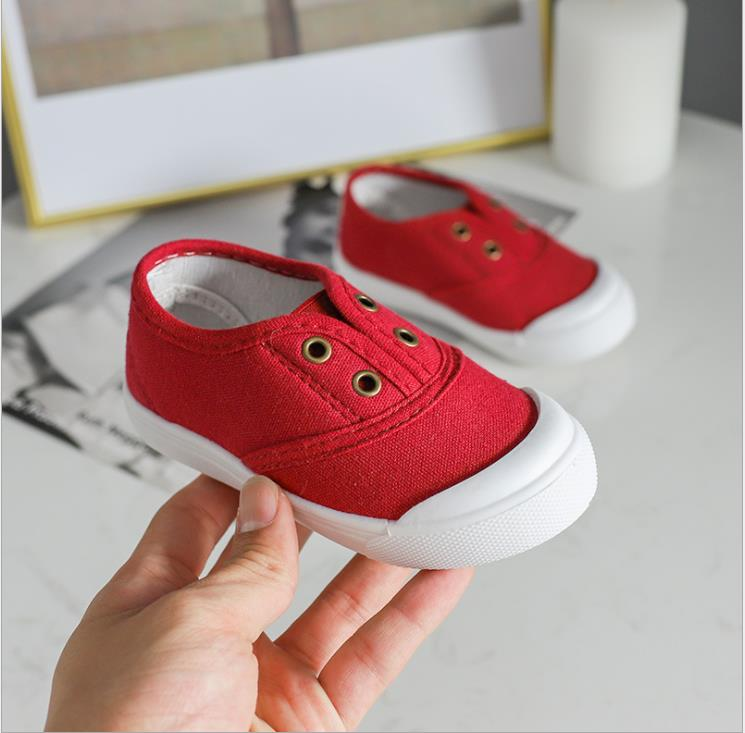 2019 Very Good Quality Shoes Spring New Boy Low - Top Candy Color Canvas Shoes Breathable Children's Pure Color Casual Shoes
