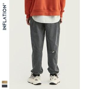 Image 4 - INFLATION 2020 Collection hommes décontracté velours côtelé survêtement pantalons hommes coupe ample velours côtelé salopette couleur unie décontracté hommes pantalons 93319W