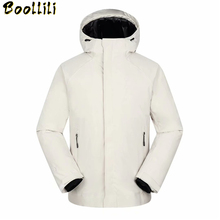 2020 New High Quality Men #8217 s Down Jacket Warm Windproof Waterproof Winter Jacket Men Hooded Coat Casual Down Jacket -30 Degree cheap Loose 9192 zipper Full PATTERN Pockets Wave Cut Epaulet Zippers Thick (Winter) Broadcloth Acetate Polyester White duck down