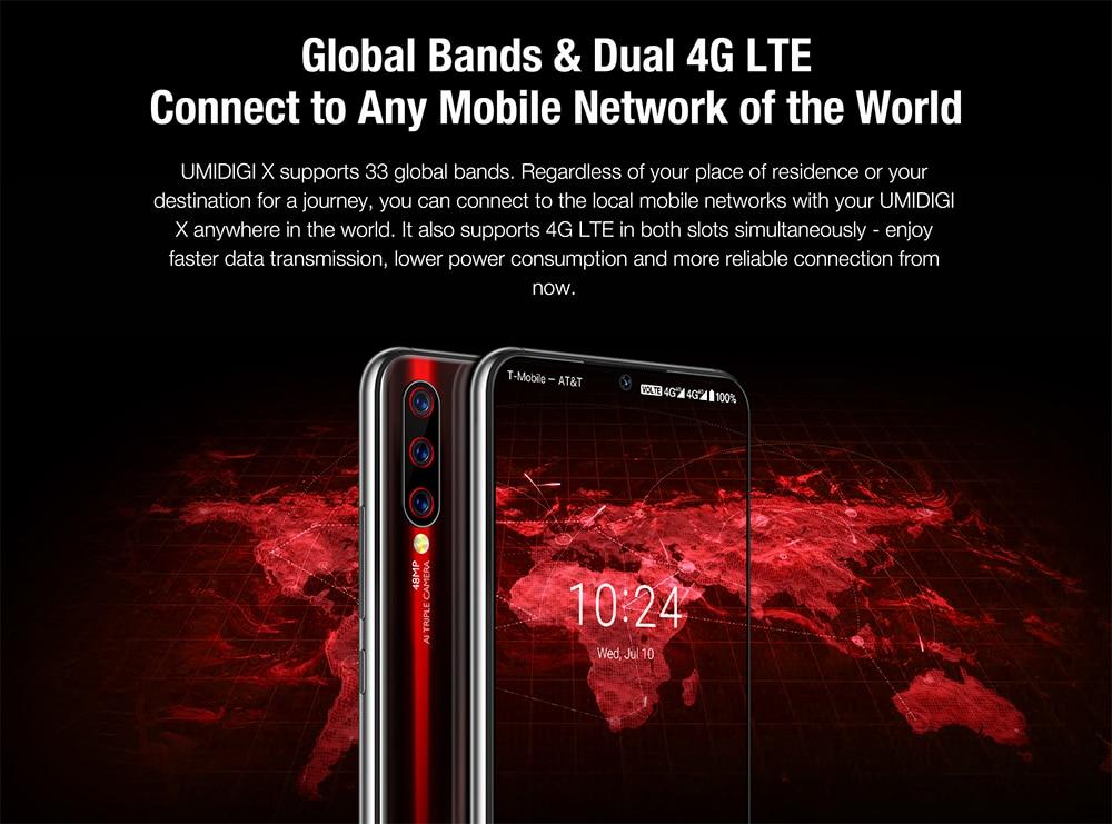 "H19fa4ab79143468c9dbb9632752ea611W Global Version UMIDIGI X In-screen Fingerprint 6.35"" AMOLED 48MP Triple Rear Camera 128GB NFC Helio P60 4150mAh Cellphone"