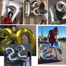 40 polegada Número um Balão de alumínio Balões da festa de Aniversário de Casamento Decoração De Aniversário globos balony Souvenirs favorece ballon Para Crianças