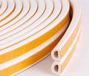 Image 5 - 5 Meters D P E Type Draught Excluder with Self Adhesive Foam Rubber Seal Strip for Window and Door seal in Home Improvement