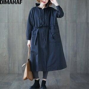 Image 1 - DIMANAF 여성 자 켓 코트 플러스 크기 가을 큰 크기 카디 건 여성 느슨한 겉옷 긴 소매 주머니 지퍼 의류 2021
