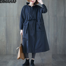 DIMANAF Women Jackets Coats Plus Size Autumn Big Size Cardigan Female Loose Outerwear Long Sleeve Pockets Zipper Clothing 2021