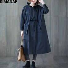 DIMANAF נשים מעילי מעילים בתוספת גודל סתיו גודל גדול קרדיגן נשי הלבשה עליונה רופפת ארוך שרוול כיסי רוכסן בגדים 2021