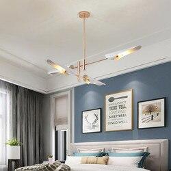 Nordycki styl postmodernistyczny żyrandol do salonu światła proste kreatywne restauracja projektant osobowości ukośne lampy wiszące rury w Wiszące lampki od Lampy i oświetlenie na