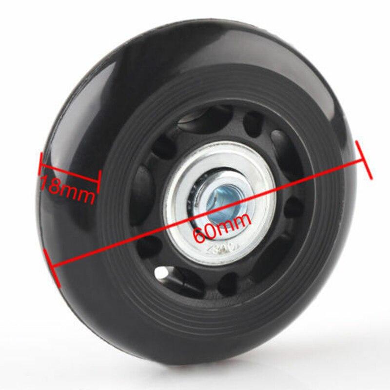 2 pces preto bagagem saco mala substituição rodas de borracha eixos reparação acessórios sem rodízios od 40mm/54mm/60mm/64mm/80mm-5
