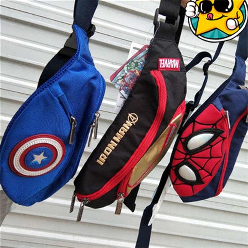 2019 New Cartoon Waist Packs Pockets Children Anime Bags Spiderman Bag Children's Bag  Phone Bag  Chest Bag For Men