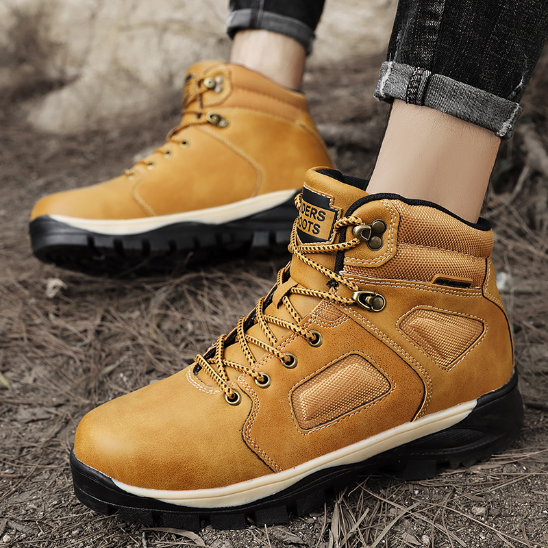 Men Hiking Shoes Outdoor Breathable Mountain Climbing Woodland Shoes Waterproof Hiking Shoes Casual Non-slip Sports Shoes