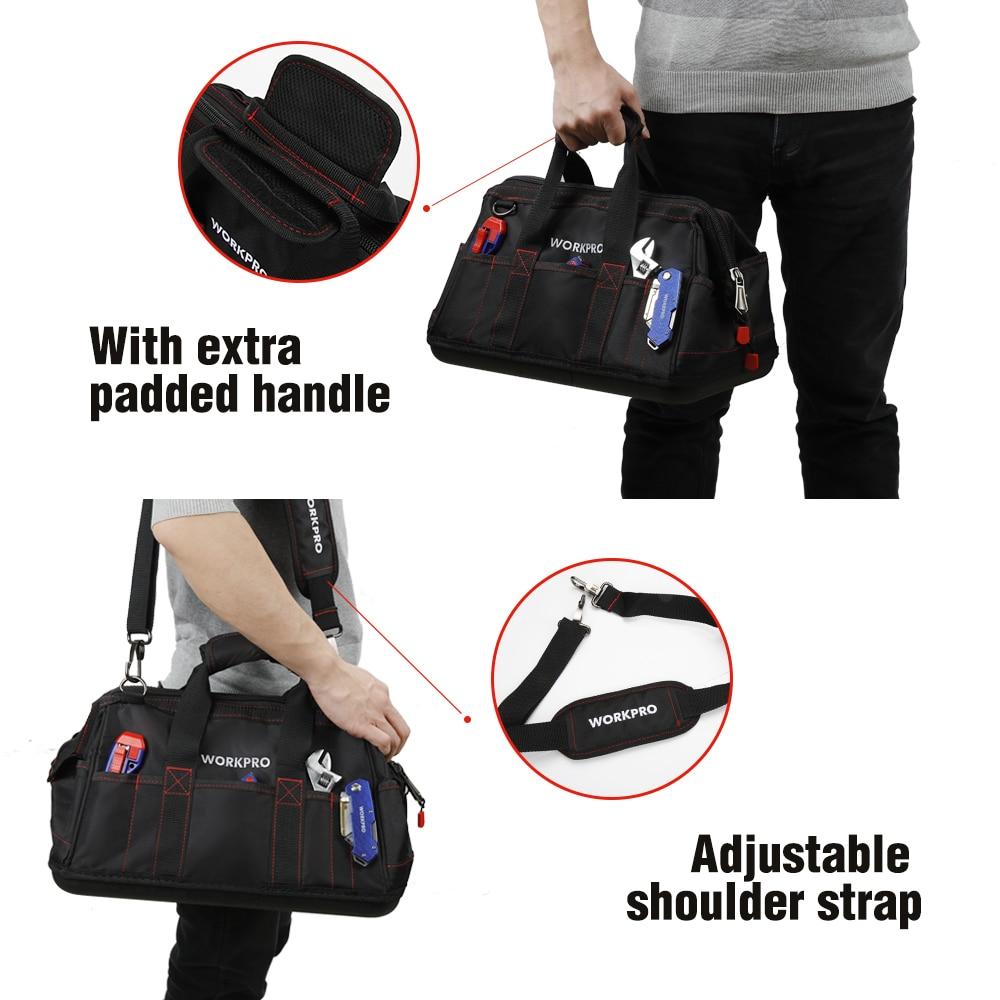 """""""WORKPRO"""" įrankių krepšiai, nešiojami vandeniui atsparūs - Įrankių laikymas - Nuotrauka 2"""