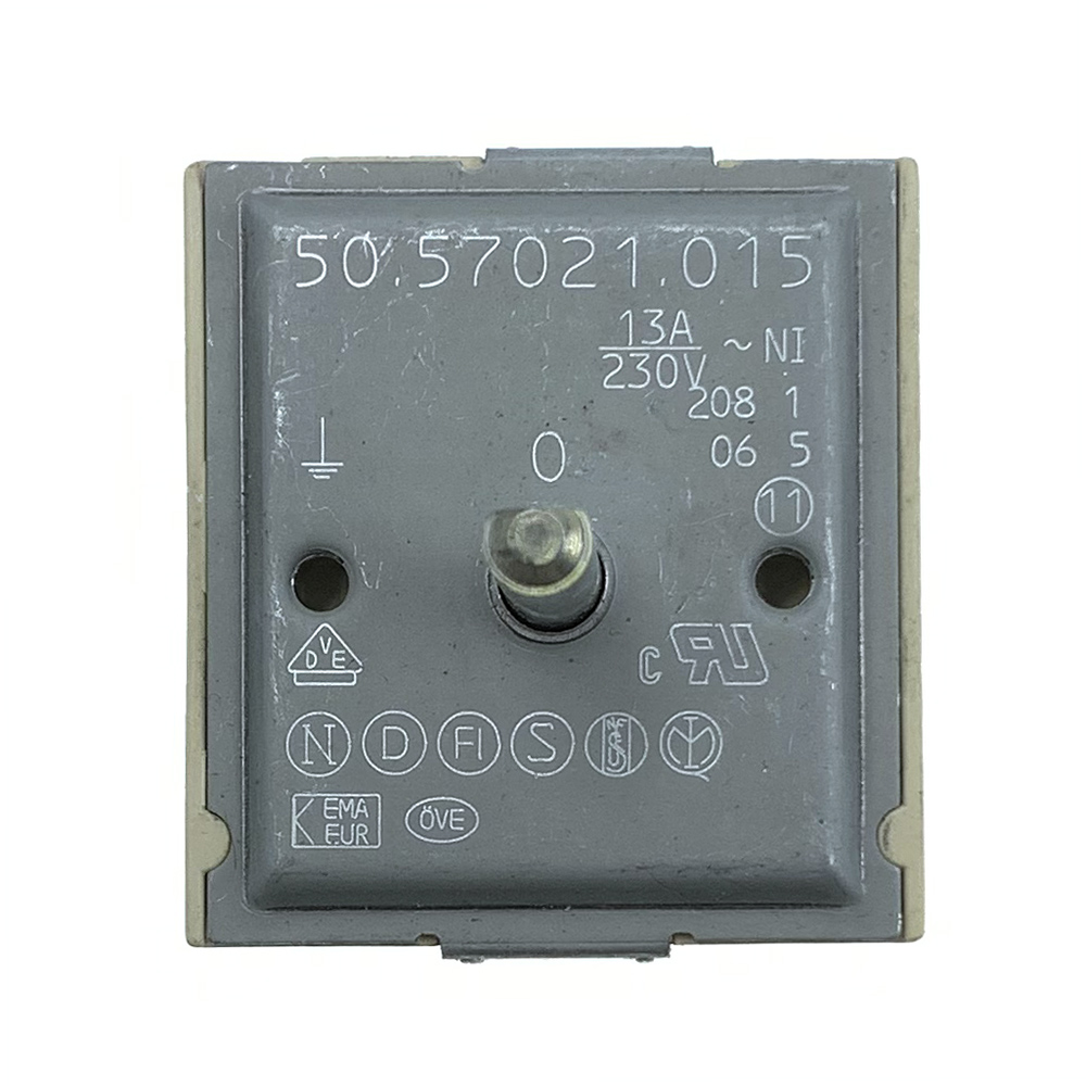 50.57021.015 EGO Single Energy Regulator Stove/Cooktop Control Switch Electric Range Infinite Switch 13A/230V