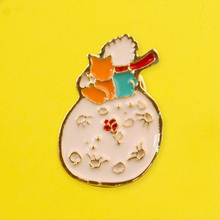Anime The Little Prince and Fox Pin Enamel Brooch Badge Backpack Jeans Clothes Lapel Pins Brooches Jewelry Gift For Kids Women the little prince brooches for women don t be a boring adult le petit prince b 612 planet fox rose fairy tale hard enamel pin