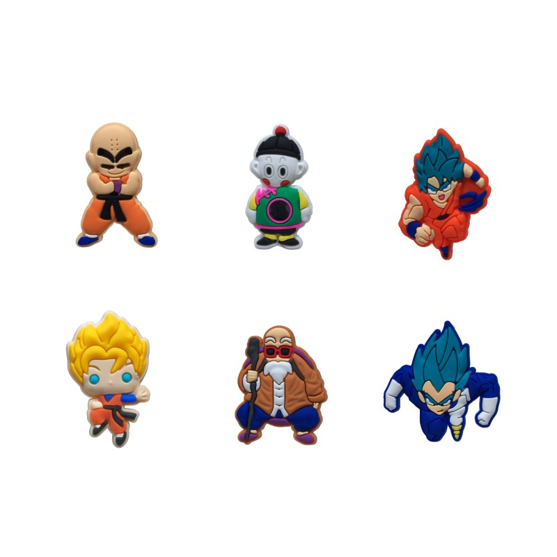 50pcs Dragon Ball Anime Shoe Charms Shoes Accessories Charms Fit Bands Shoe Decoration Croc Charms JIBZ Kids Birthday Gift