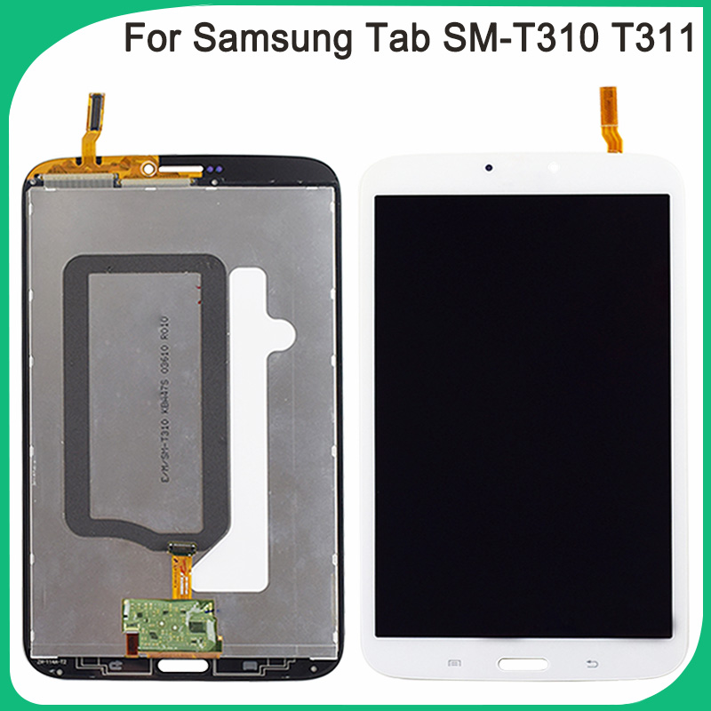 Getestet Neue T310 Touch Screen Für Samsung Galaxy Tab3 SM-T310 <font><b>T311</b></font> <font><b>LCD</b></font> Display Touch Sensor Glas Digitizer Panel Vollversammlung image