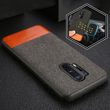 Canvas + Leather Magnetic Phone Case For Oneplus 8 8 Pro Nord 7T 7 Pro 6 6T 5 5T 6T 360 Full Protective Cover For One Plus 8T