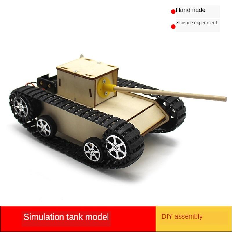 Juguetes de la ciencia de vapor experimento hecho a mano-componentes electrónicos física DIY modelo de tanque de montaje Kits de tecnología de células madre