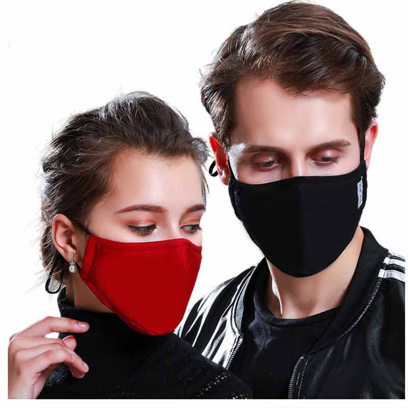 * Fashion Cotton PM2.5 Anti haze smog mouth Dust Mask + * Activated carbon filter paper * bacteria proof Flu Face Mask Reusable 4