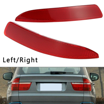 For BMW X5 E70 2007-2009 Bumper Reflector Accessories Auto Right/Left Red ABS+PC Parts image
