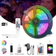 WiFi LED Strip Light 5M 10M RGB 2835 SMD 5050 Flexible Ribbo