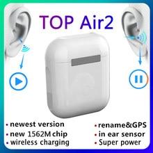 Nova parte superior air2 tws 1:1 gps renomear 2nd tws fones de ouvido sem fio bluetooth ar 2 i90000 pro android pk i99999 max fones de ouvido