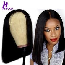 HairUGo 4*4 Lace Bob Wigs 100% Human Hair Wigs