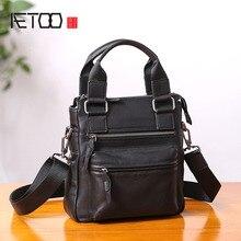 AETOO sac à main en cuir pour hommes, vertical business décontracté, petit sac à bandoulière en diagonale à bandoulière