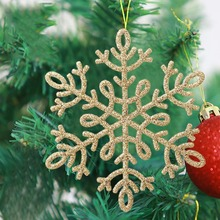 8 PCS Garland Decoration Crafts Glitter Snowflake Christmas Ornaments Christmas Tree Wreath Winter