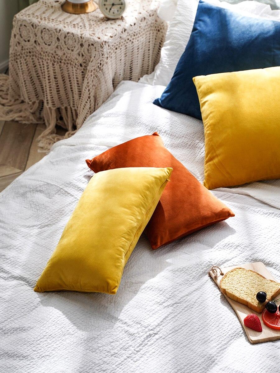 New Fashion High Quality Velvet Cushion Cover Pillow Cover Pillowcase Christmas Home Decorative Sofa Throw Pillows Living Room