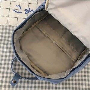 Image 5 - חדש מגמה נשי תרמיל אופנה מזדמן נשים תרמיל עמיד למים ניילון תיקי בית ספר בגיל ההתבגרות ילדה כתף שקיות נקבה