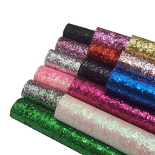 22*30cm Faux Leather Sheets Chunky Glitter Fabric Shiny Gold A4 Synthetic Hairbow DIY Accessories