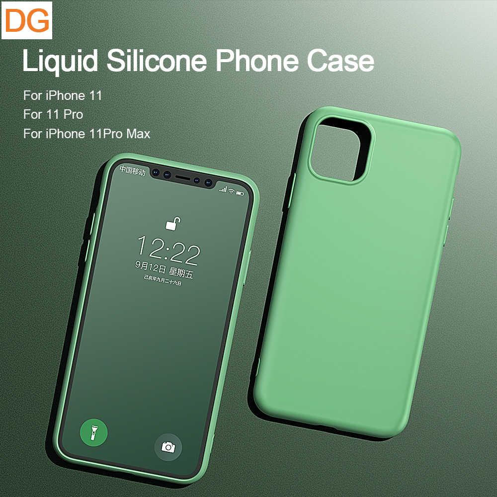 Силиконовый чехол Liguid для iPhone 7 8 6 6s Plus XR X XS Max, мягкие чехлы для телефонов Apple iPhone 11 Pro Max, поддержка беспроводной зарядки