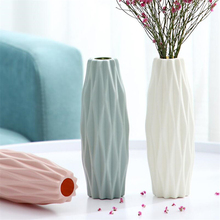 Plastic Vase Vase-Decoration Flower-Pot Ceramic Imitation White Hydroponic Creative Modern