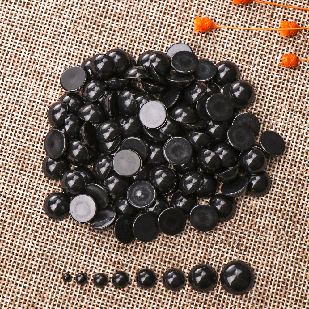 100Pcs 3-12mm Black Plastic Safety Eyes For Bear Doll Animal Puppet DIY Crafts Children Kids Toys Eyes Accessories