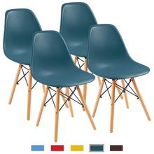 hans wegner style three legged shell chair ash plywood black finish leather seat living room furniture modern lounge shell chair Modern Simple Dining Chair, Nordic Minimalist Shell Lounge Plastic Chair for Kitchen, Bedroom,Office,Living Room Chairs 4 Pcs