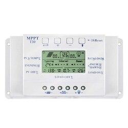 Regulator ładowania słonecznego 30A MPPT T30 PWM napięcie ustawiane wyświetlacz lcd światła i podwójny regulator czasowy 30A 12V 24V automatyczne działanie